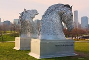 Kelpies Framed Prints - The Kelpies in Chicago Framed Print by Veronica Batterson