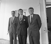 President Kennedy Posters - The Kennedy Brothers Poster by War Is Hell Store