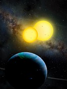 Movie Poster Prints Posters - The Kepler 35 System Poster by Movie Poster Prints