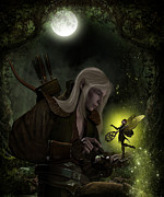 Elven Archer Framed Prints - The Key Bargain Framed Print by Suzanne Amberson