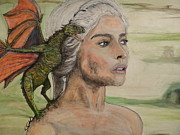 Clarke Paintings - The Khaleesi by Jose Cabral