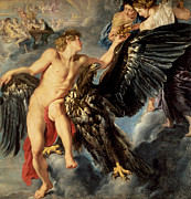 The Kidnapping Of Ganymede Print by Rubens