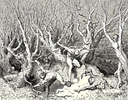 Horror Digital Art - The  Killing Trees From Dantes Inferno by Gustave Dore