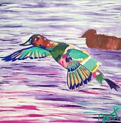 Ducks Unlimited Prints - The King Canvasback Print by Janice Westfall