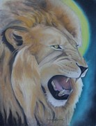 Lion Pastels - The King by Demitrius Roberts