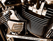 Outlaws Prints - The King - Harley Davidson Road King Engine Print by Steven Milner