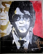 Rock And Roll Mixed Media Originals - The King by John Little