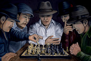 Chess Men Paintings - The King Makers by Andrew Wells