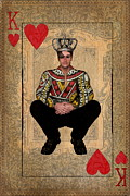 Playing Cards Posters - The King of Hearts Poster by Terry Fleckney