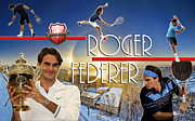 The King Roger Federer Print by Christopher Finnicum