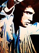 Elvis Presley Painting Originals - the King SOLD by Bjorn Davidson