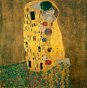 Gustav Klimt. Kiss Posters - The Kiss - Gustav Klimt Poster by Tilen Hrovatic