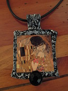 Shabby Chic Jewelry - THE KISS by Gustav Klimt by Sherry Sharp