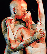 Sensual Lovers Paintings - The Kiss by Graham Dean