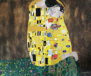 Klimt Painting Originals - The Kiss replica Klimt by M Bleichner