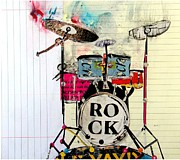 Drum Kit Mixed Media - The Kit  by Brian Buckley