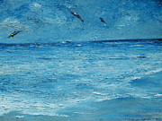 Palette Knife Framed Prints - The Kite Surfers Framed Print by Conor Murphy