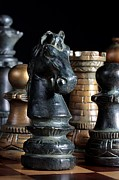 Chess Photo Prints - The Knights Challenge Print by Joe Kozlowski