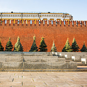 Chimes Framed Prints - The Kremlin Wall - Square Framed Print by Alexander Senin