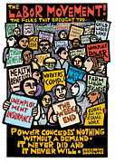 Frederick Douglass Mixed Media Posters - The Labor Movement Poster by Ricardo Levins Morales