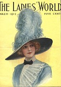Nineteen-tens Art - The Ladies World 1910s Usa Hats Womens by The Advertising Archives