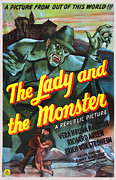 Release Digital Art Prints - The Lady and the Monster Print by Studio Release