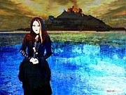 Puerto Rico Digital Art Originals - The Lady of the Lake by Miguel Conesa Osuna