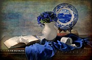 Still Life With Pitcher Framed Prints - The Ladys Got the Blues Framed Print by Diana Angstadt