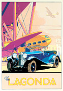 Aeroplane Posters - The Lagonda Poster by Brian James