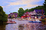 Boathouse Row Philadelphia Prints - The Lagoon at Boathouse Row Print by Bill Cannon
