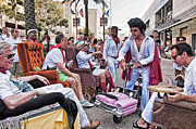 Man Photos - The Laissez Boys at Running of the Bulls in New Orleans by Kathleen K Parker