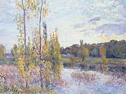 Warm Colors Paintings - The Lake at Chevreuil by Alfred Sisley