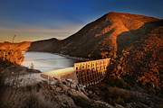 Larry Marshall Prints - The Lake Hodges Dam Print by Larry Marshall