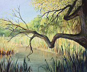 Beautiful Scenery Paintings - The Lake of Silence by Kiril Stanchev