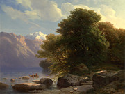 Famous Artists - The Lake of Thun by Alexandre Calame