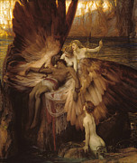 Famous Artists - The Lament for Icarus by Herbert James Draper
