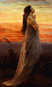 Religious Artist Paintings - The Lament of Jephthahs Daughter by George Elgar Hicks