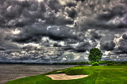 Golf Courses Prints - The Landing hole 4 Print by Reid Callaway