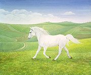 Trotting Paintings - The Landscape Horse by Ditz