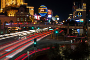 The Strip Photo Framed Prints - The Las Vegas Strip Framed Print by Eddie Yerkish