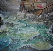 Pirate Ships Painting Originals - The Last Crusade  by Brian  Rodgers