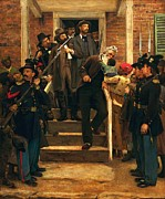 Anti-slavery Painting Framed Prints - The Last Moments Of John Brown Framed Print by Pg Reproductions