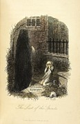 Charles Dickens Framed Prints - The Last of the Spirits Framed Print by John Leech
