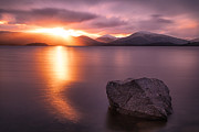 Scottish Landscapes Prints - The Last Rays  Loch Lomond Print by John Farnan
