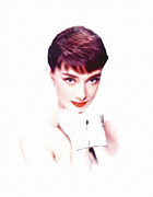 Audrey Hepburn Paintings - The last rose by Stefan Kuhn