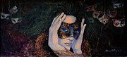 Mask Painting Framed Prints - The Last Secret Framed Print by Dorina  Costras