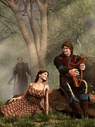 Singer Songwriter Digital Art - The Last Song of Tristan by Daniel Eskridge