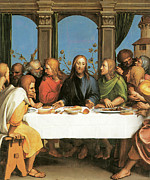 The Apostles Framed Prints - The Last Supper Framed Print by Hans Holbein the Younger