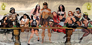 Corsets Framed Prints - The Last Supper Framed Print by Ian Wilson