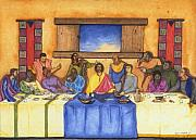 African-american Drawings Posters - The Last Supper II Poster by Lynn Darnelle